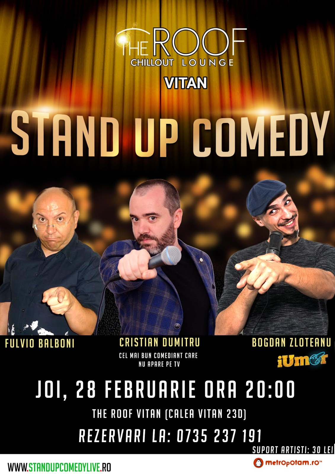 Stand-Up Comedy Bucuresti, joi 28 februarie 2019