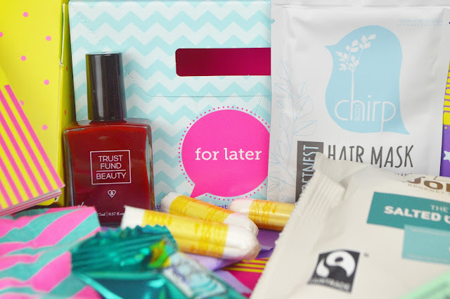 Lovelaughslipstick blog Bettybox Uk's First Period Subscription Box Review