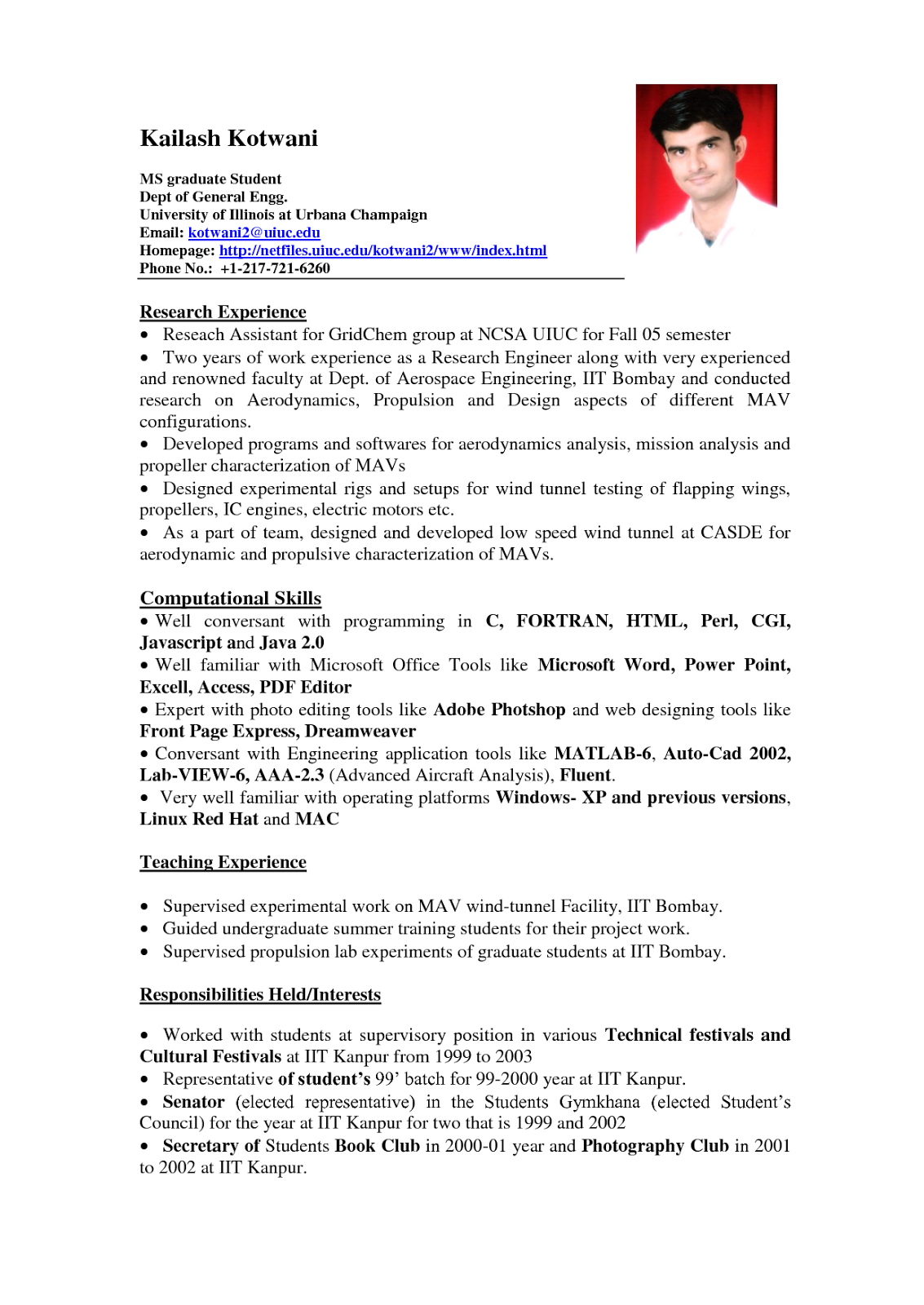 resume for fresh graduates with no experience sample