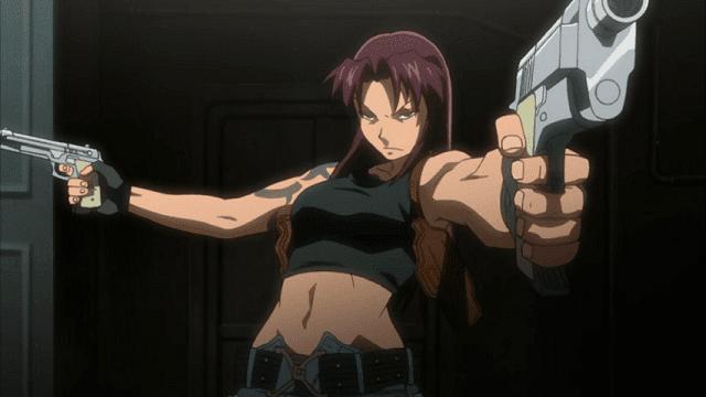 revy selalu memakai dua pistol