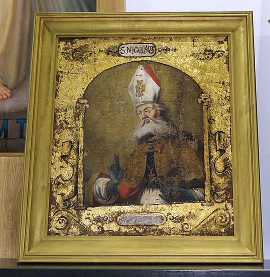 Obraz z wizerunkiem św. Mikołaja