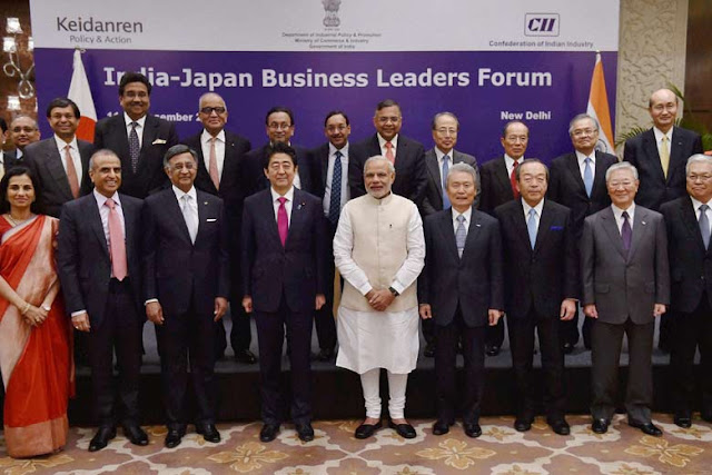 Image Attribute: CII's India-Japan Business Leader Forum / Source: Press Trust of India