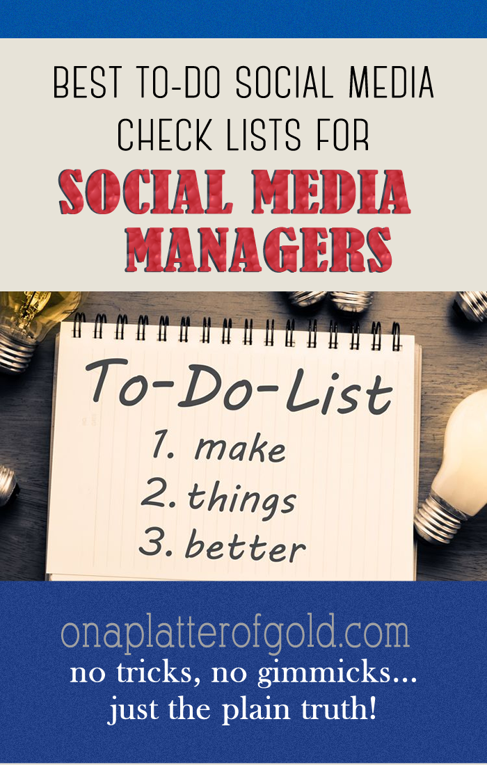 This Infographic highlights to-do social media checklist for business marketing