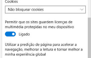 habilitar cookies no edge
