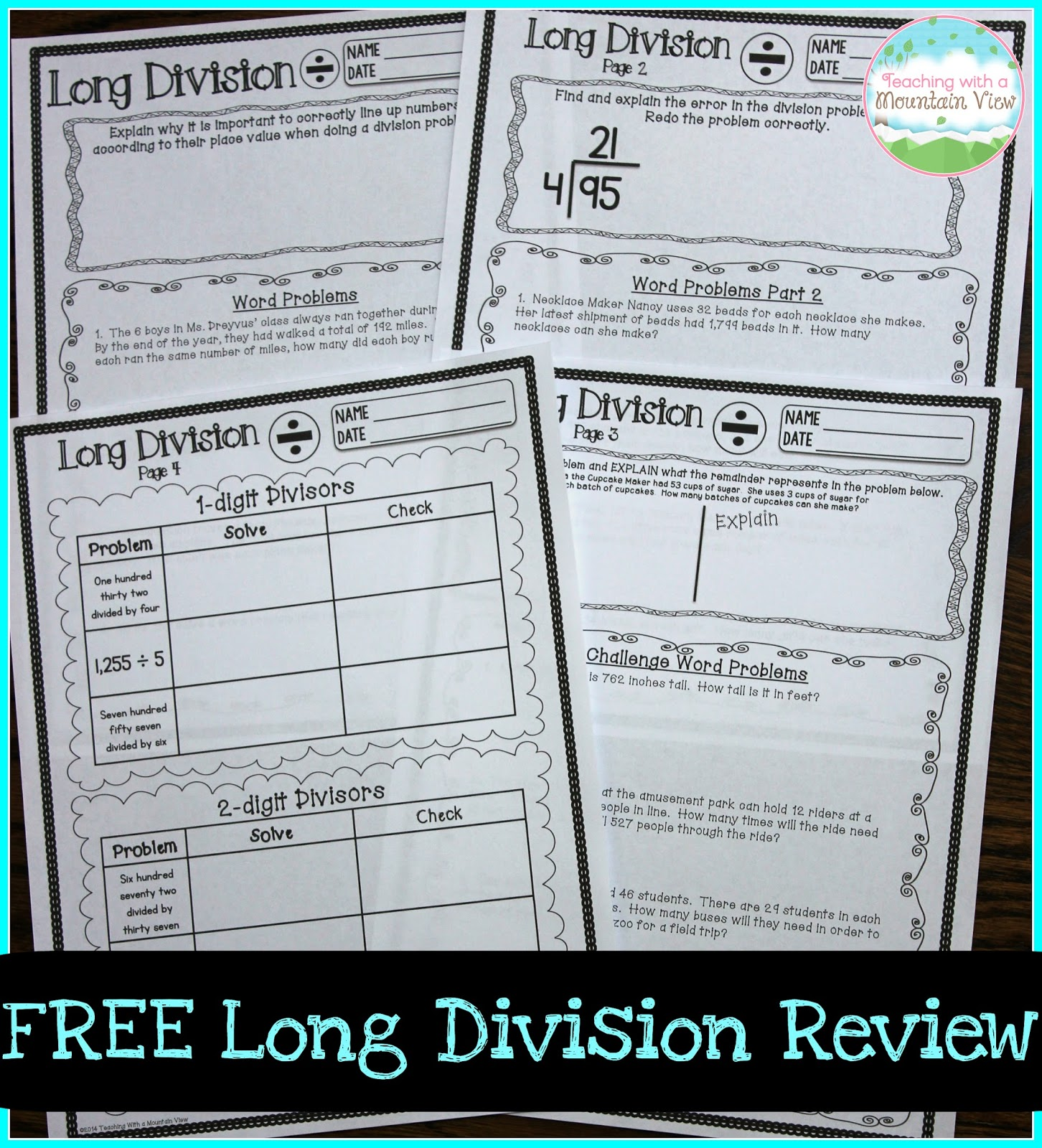Is Long Division On A Grade Three Math Test