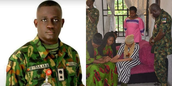 Nigerian Army pays condolence visit to the wife of Lt. Col. Sakaba