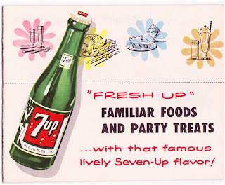 Vintage 7up 1/4 size recipe booklet on The Cedar Chest blog