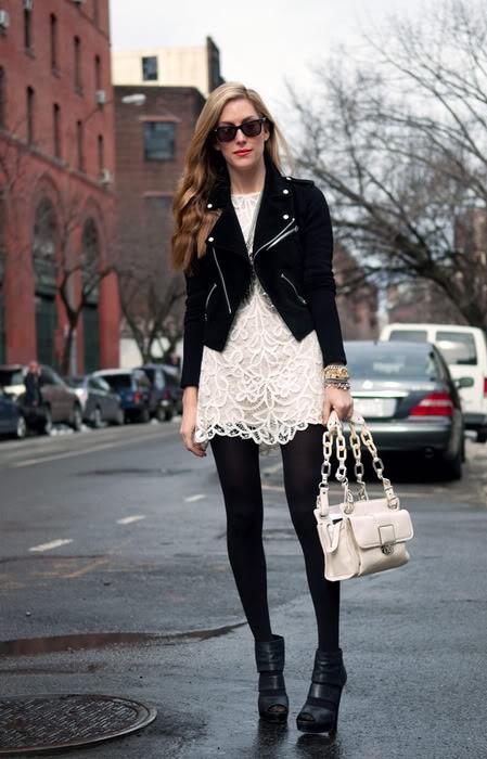 2e4f63706 A Blonde Ambition  White Dress  Black Tights