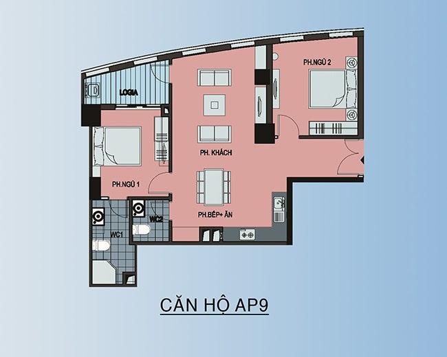 căn hộ AP9 - 78,4m2