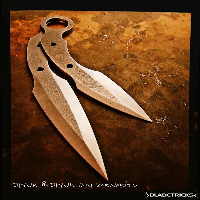 Double edge karambit daggers by knife maker Bladetricks
