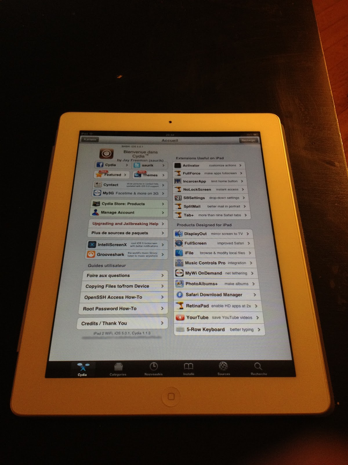 iPad 2 Jailbreak untethered screenshoot