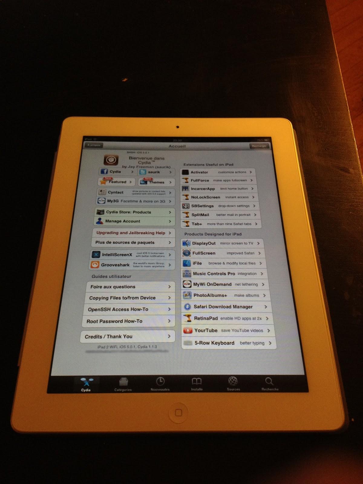 iPad 2 Jailbreak untethered screenshoot