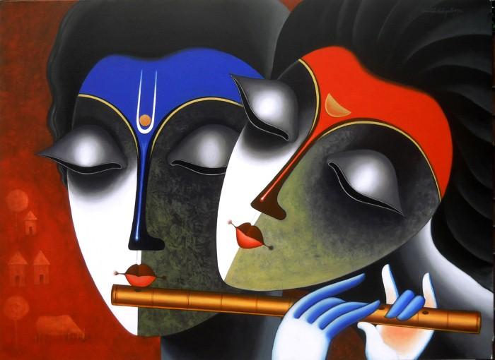 Индийский художник. Santosh Chattopadhyay 21
