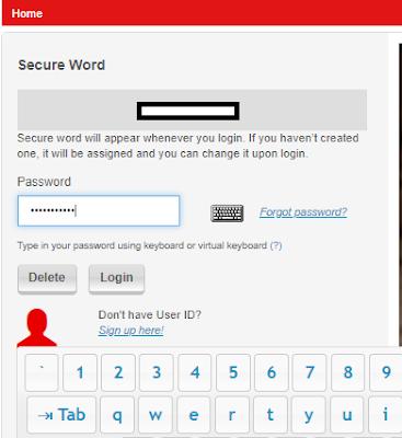 masukkan password dan pastikan secure word sesuai