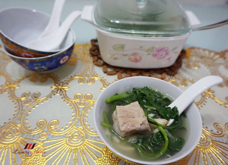 singapore white pepper bak kut teh watercress soup