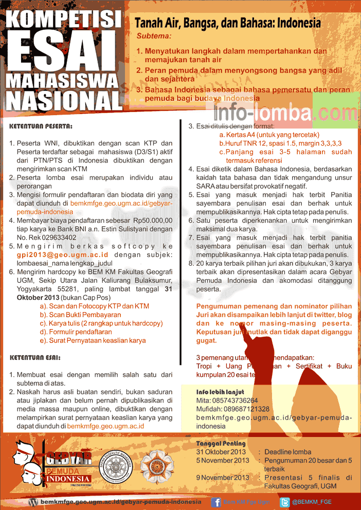 lomba essay ftp ugm 2013