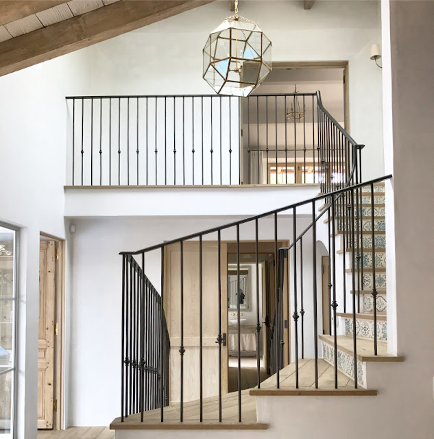 image result for staircase Malibu Mediterranean Modern Farmhouse Giannetti Home