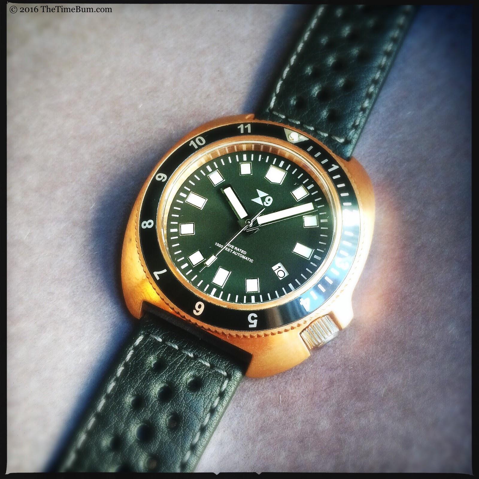 Tc 9 bronze 1970 39 s diver and brass pilot the time bum - Bronze dive watch ...