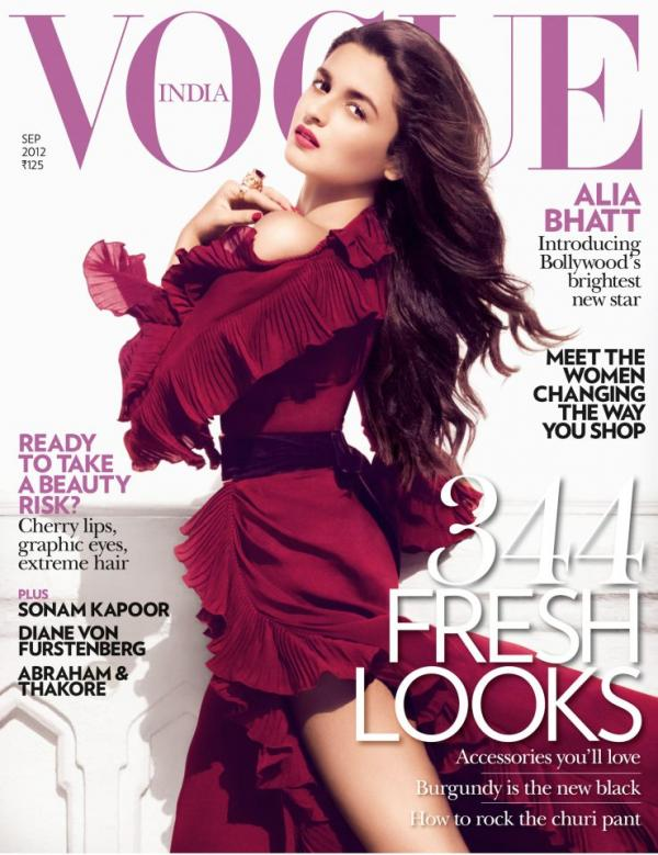 Alia Bhatt's Photoshoot For Vogue India September 2012