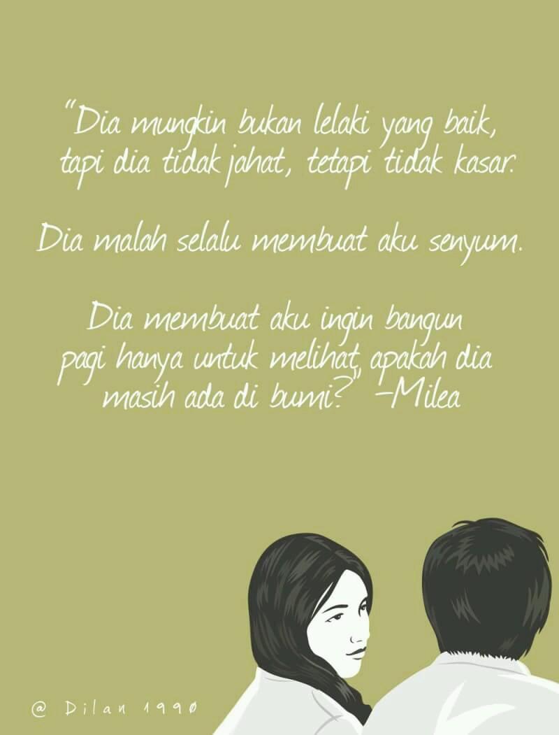 Kata - Kata Dilan Yang Membuat Setiap Perempuan Bermimpi ...