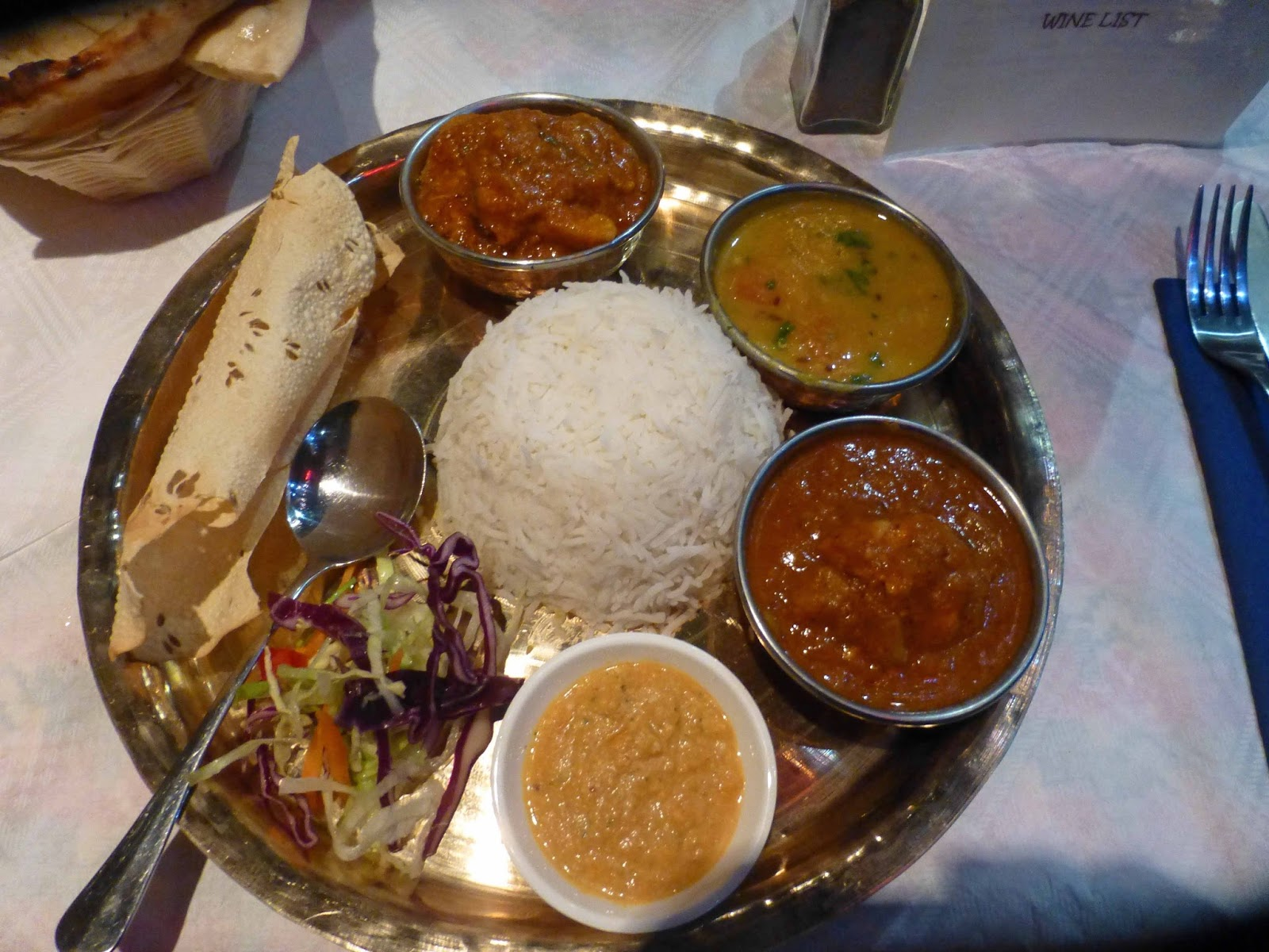 RESTAURANTS AND FOOD: Thali Nepal Restaurant on the Banks of The Lee