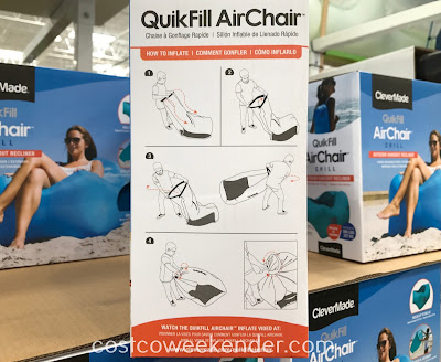 ClevrMade QuikFill Air Chair: can be easily set up and put away