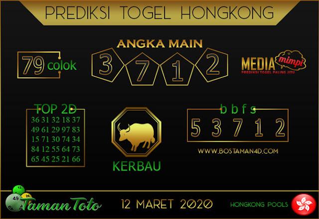 Prediksi Togel HONGKONG TAMAN TOTO 12 MARET 2020