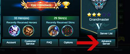 apa itu server advanced mobile legend