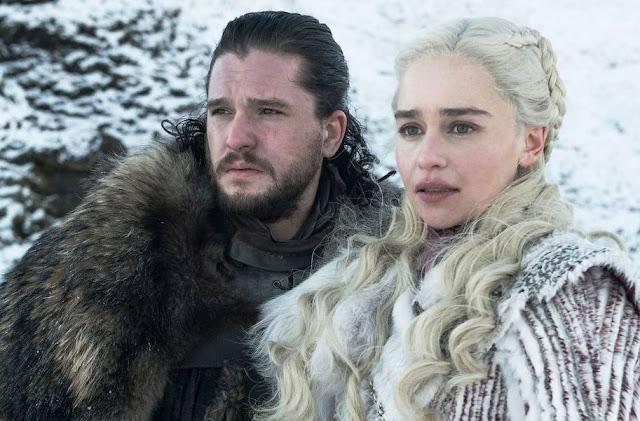 Jon Snow with Daenerys Targaryen