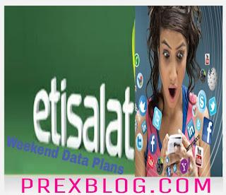 Etisalat Weekend Data Plans - Prexblog.com