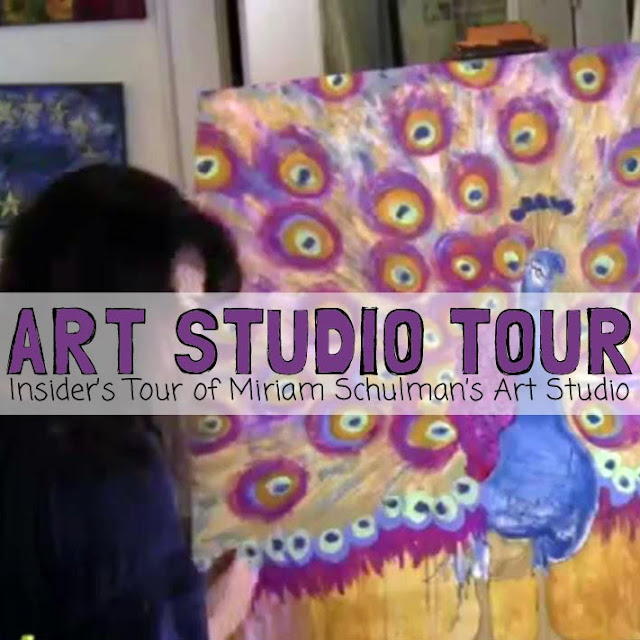 art studio #artstudio Tour by @schulmanArt http://schulmanart.blogspot.com/2014/05/take-tour-of-my-art-studio.html