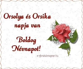 Október 21 - Orsolya, Orsika névnap