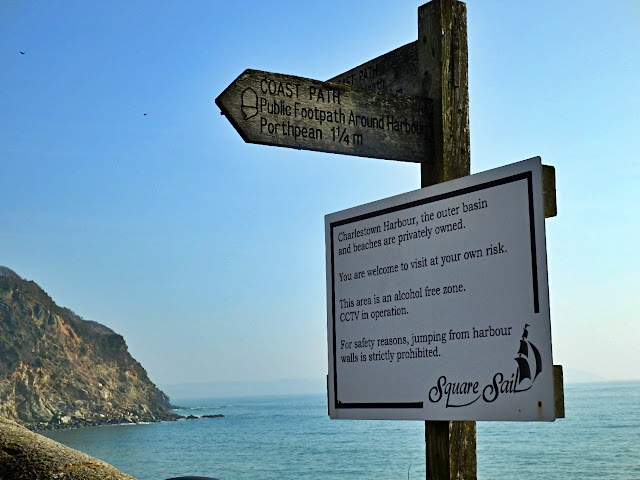 Charlestown, Cornwall signpost
