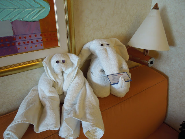 Carnival Liberty towel animals