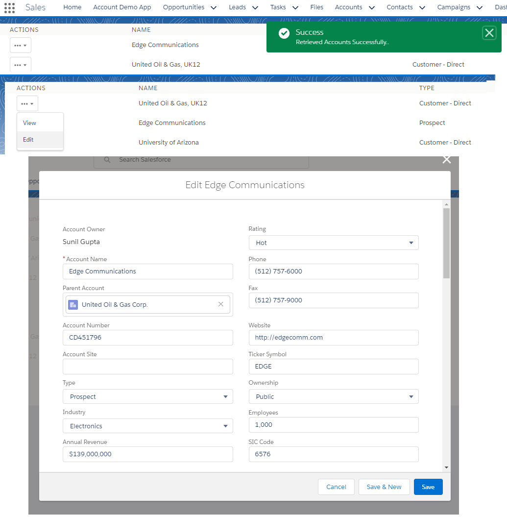 Salesforce Stuff: Salesforce 1 Events in Lightning Experience and