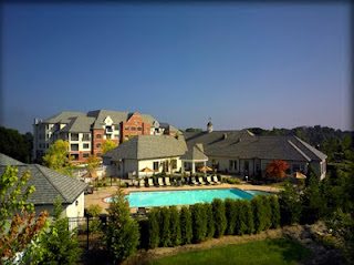 Building 5000 of Athertyn at Haverford Reserve with clubhouse and amenities