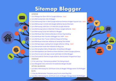 Cara Mudah Membuat Sitemap di Blogger