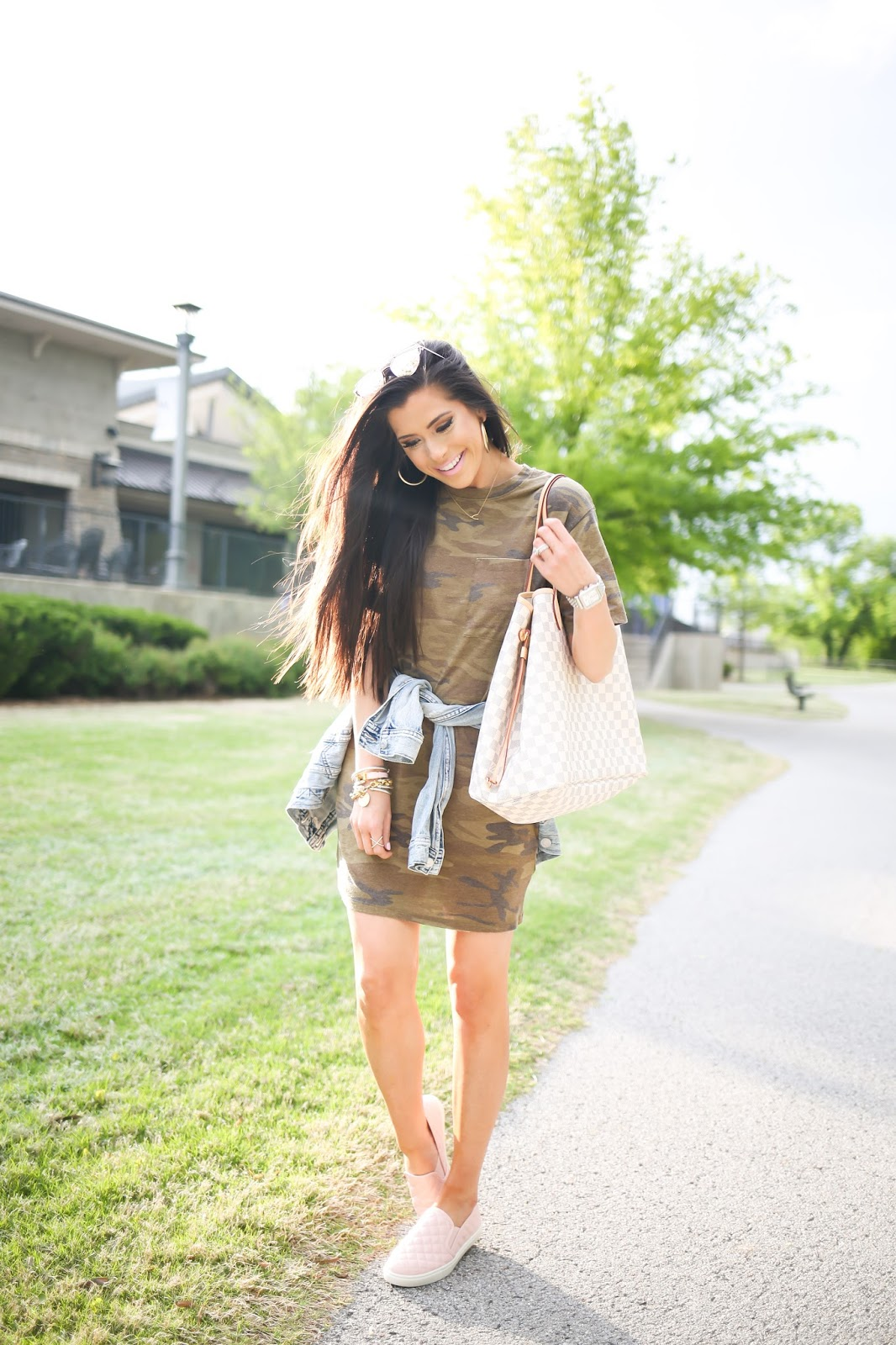 White t shirt dress outfit - Casual Outfit Camo T Shirt Dress