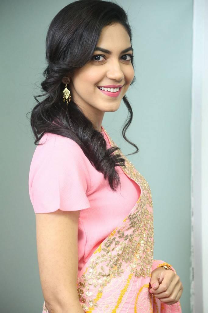 Glamorous Telugu Girl Ritu Varma In Pink Dress At Movie Interview