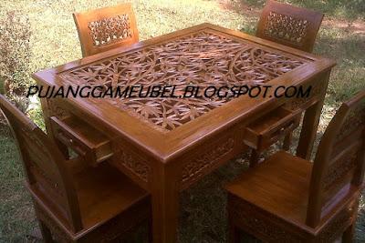 meja makan kartini  bambu 4k