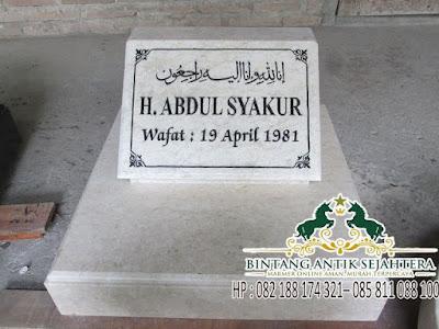 Model Batu Nisan Islam, Model Batu Nisan Kuburan