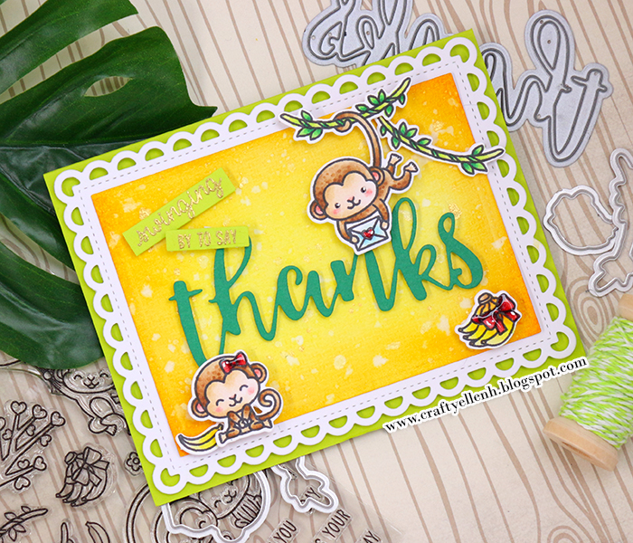 #thankyoucard #Sunnystudio #Altenew #copicmarker #cardmaking