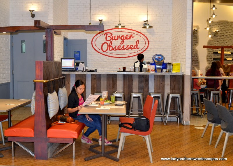Lady at Gourmet Burger Kitchen Dubai