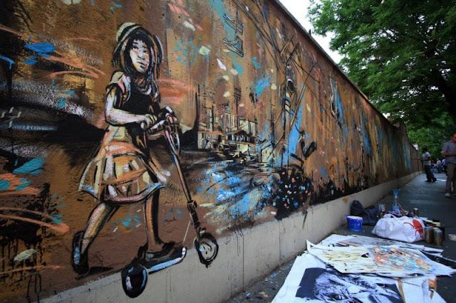 Рисунки на стенах. Alice Pasquini 38