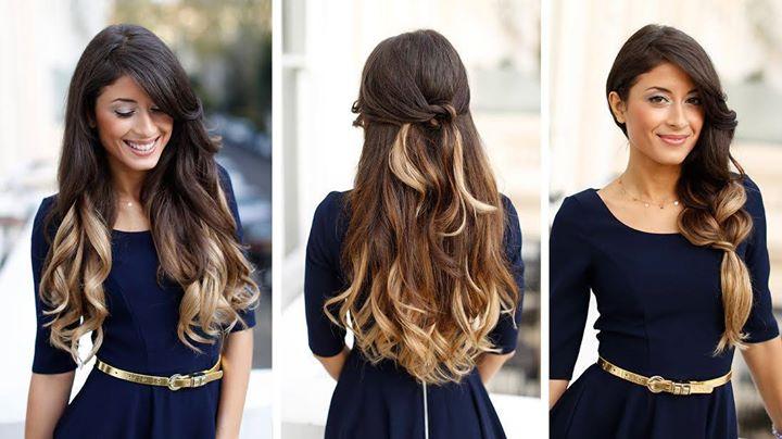 Tidak melulu harus model ombre rambut panjang yang lurus namun ombre  keriting panjang bergelombang juga bakalan membuat penampilan kalian  terlihat unik dan ... bbc1661b05