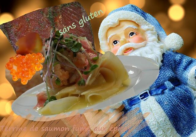 mousse de saumon fumé épicée, en gelée, sans gluten