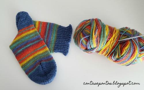 meias em tricot - handmade