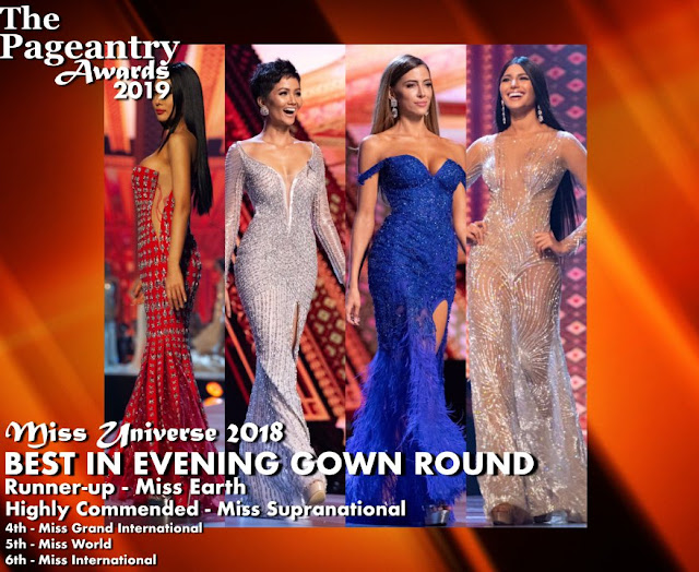 Pageantry Awards 2019 Miss Universe wins Best In Evening Gown Round