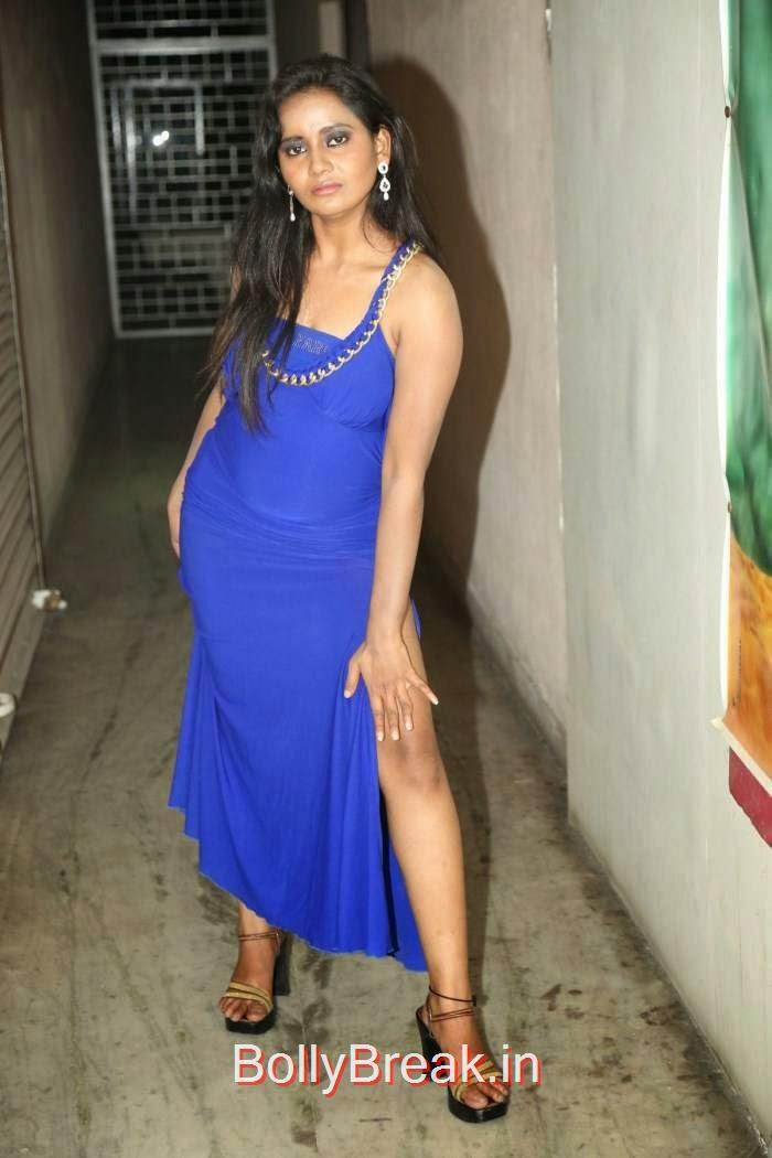 Anusha-Photo-Stills-52, Anusha Hot HD Images  in Blue Dress