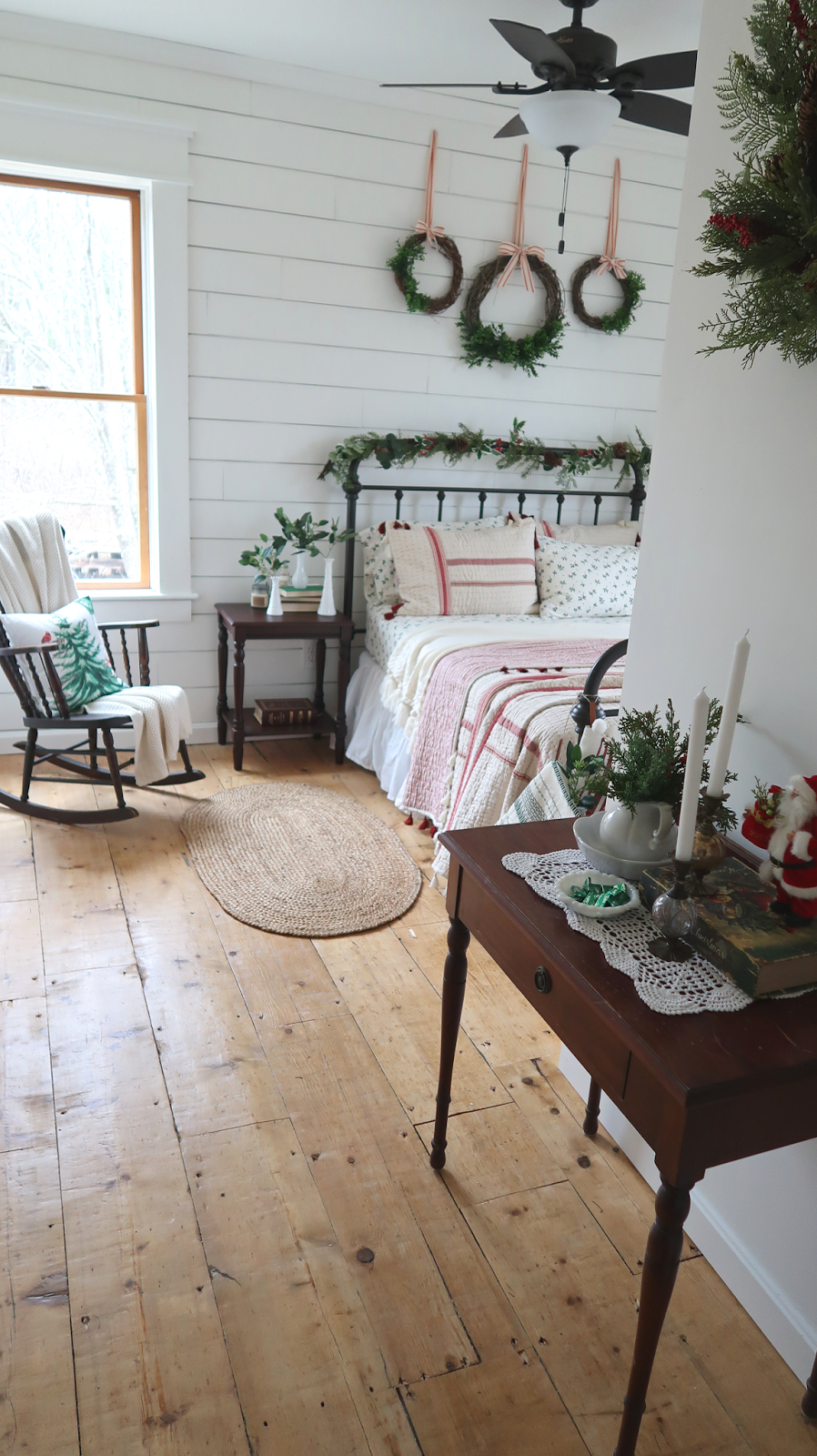 our guest room reveal a farmhouse christmas retreat - A Farmhouse Christmas